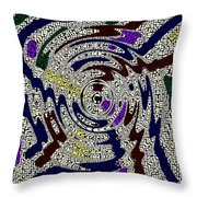 Partying In The City Throw Pillow