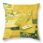 Pass Go Throw Pillow by Caitlyn  Grasso