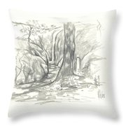 Passageway At Elephant Rocks Throw Pillow