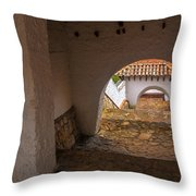 Passageway In Colonial Town Throw Pillow