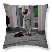 Passau Violinist Throw Pillow