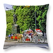 Passenger Cars Only - Central Park Throw Pillow