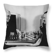 Passengers On Panam Clipper Throw Pillow by Underwood Archives