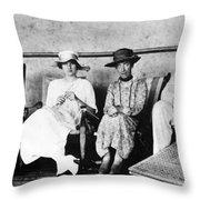 Passengers On Ship, 1912 Throw Pillow