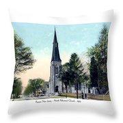 Passiac New Jersey - Norht Reformed Church - 1910 Throw Pillow