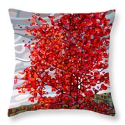 Passing Storm Throw Pillow by Mandy Budan