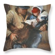 Passing The Torch Throw Pillow