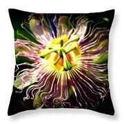 Passion Flower Throw Pillow