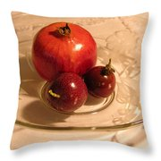 Passion Fruit And Pomegranate Throw Pillow