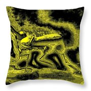 Passion In Grainy Gold Throw Pillow