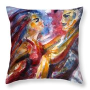Passion Is Tango Throw Pillow