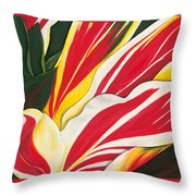 Passion Painting Throw Pillow by Lisa Bentley