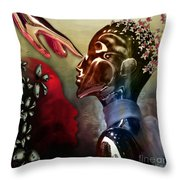 Passion Was...not A Thought Throw Pillow