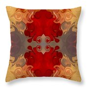 Passionate Explosions Of Colorful Reality By Omaste Witkowski Throw Pillow