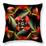 Passionate Love Bouquet Abstract Throw Pillow