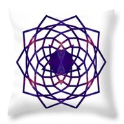 Passionate Purple Prayers Abstract Chakra Art By Omaste Witkowsk Throw Pillow