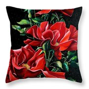 Passionately Red  Throw Pillow