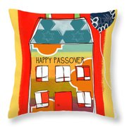 Passover House Throw Pillow by Linda Woods