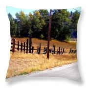Past And Present Meet Throw Pillow