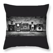 Past Cameras Throw Pillow