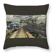 Past Century Trains Throw Pillow