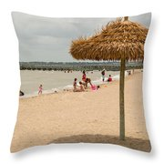 Past Midday Port Lavaca Beach Throw Pillow