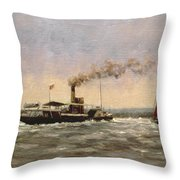 Past On The Medway Throw Pillow