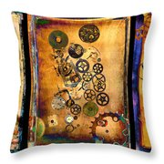 Past-present-future-triptych Throw Pillow