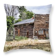 Past Stores Throw Pillow