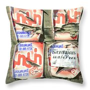 Past Their Sell-by Date.. Throw Pillow