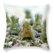 Pasta Christmas Trees Throw Pillow