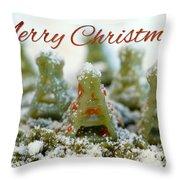 Pasta Christmas Trees With Text Throw Pillow