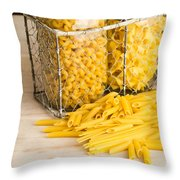 Pasta Shapes Still Life Throw Pillow by Edward Fielding