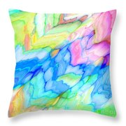 Pastel Abstract Patterns V Throw Pillow