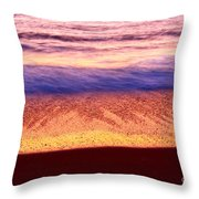 Pastel - Abstract Waves Rolling In During Sunset. Throw Pillow