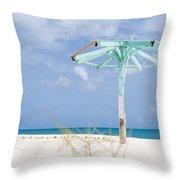 Pastel Beach Frame Throw Pillow