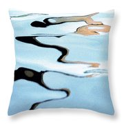 Pastel Blue Water Reflection Abstract Throw Pillow