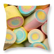 Pastel Colored Marshmallows Throw Pillow