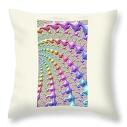 Pastel Drizzle Throw Pillow