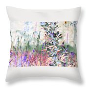 Pastel Floresence Throw Pillow