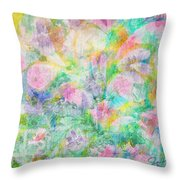 Pastel Flowers By Jan Marvin Throw Pillow