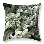 Pastel Garden Abstract Throw Pillow