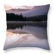 Pastel Morning Mist Throw Pillow
