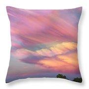 Pastel Painted Sunset Sky Throw Pillow