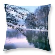 Pastel Pond Throw Pillow