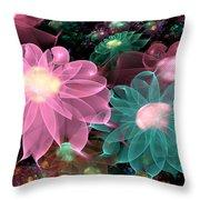 Pastel Posies Throw Pillow by Peggi Wolfe