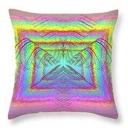 Pastel Rainbow Reverberations Throw Pillow
