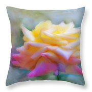 Pastelacious Rose Throw Pillow