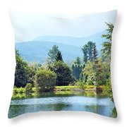 Pastoral Pond And Valley Throw Pillow