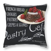 Pastry Cafe Throw Pillow